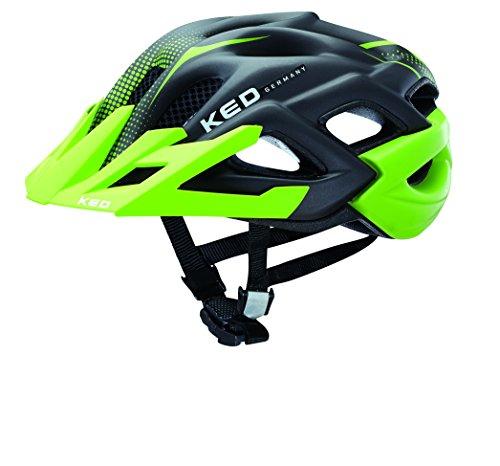 KED Fahrradhelm Status Jr, Green Black Matt, 49-54 cm