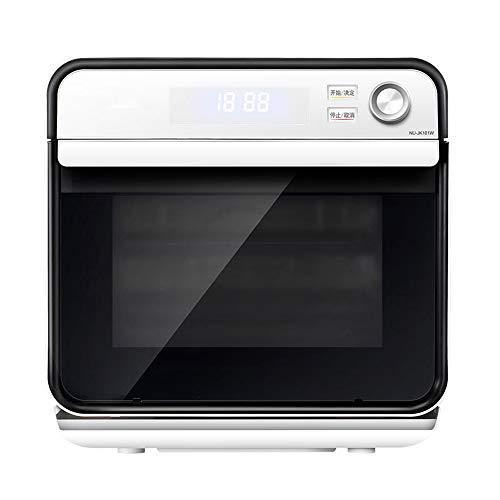 Elektrische oven voor het huishouden, multifunctionele LED-lamp, roestvrijstalen folie, 3D-heteluchtcirculatie, gelijkmatige opwarming