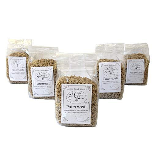 5 Packungen Paternostri-Nudeln Durum-Weizennudeln Senatore Cappelli Bronze-Nudeln mit italienischen Weizennudeln mit gemahlenem Steinmehl