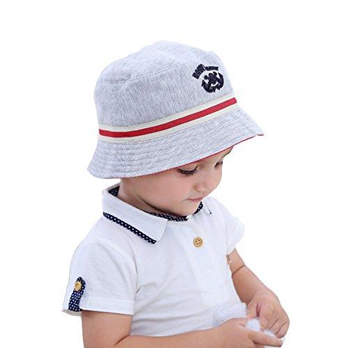 Fancyland Bob de Soleil Anti-UV Chapeau Pur Coton Bébé Enfant Garçon Printemps Eté