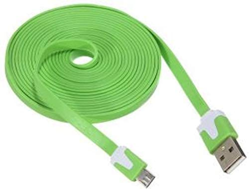 NTJ 2m 6ft Flat Noodle Tangle Free Micro USB Pin Charging Data Sync Cable for All Android Phones product image