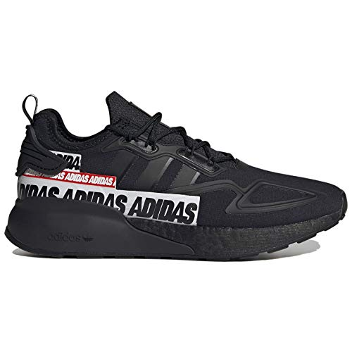 adidas Originals Zx 2k Boost Mens Running Casual Shoes Fx7038 Size 10 Black/Black/White