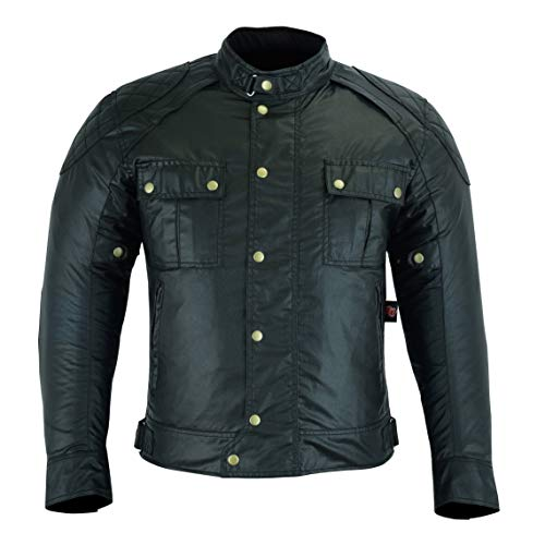 MOTO Chaqueta hombre con diseño exclusivo para motocicleta, multifunción, color negro, talla pequeña (xxl)