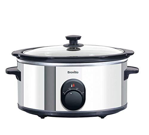 Breville ITP137 4.5 Liter Slow Cooker, Crockpot, Schongarer, edelstahl, 265W