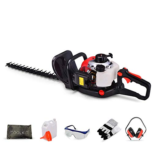 BU-KO 26cc Petrol hedge Trimmer, Handheld Hedge Cutter, 600mm Strimmer...
