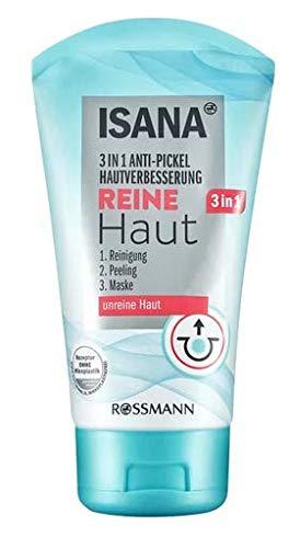 Reine Haut 3in1 Anti-Pickel Reinigungsmaske - Reinigung, Peeling und Maske - 3 Produkte in1! - 150 ml