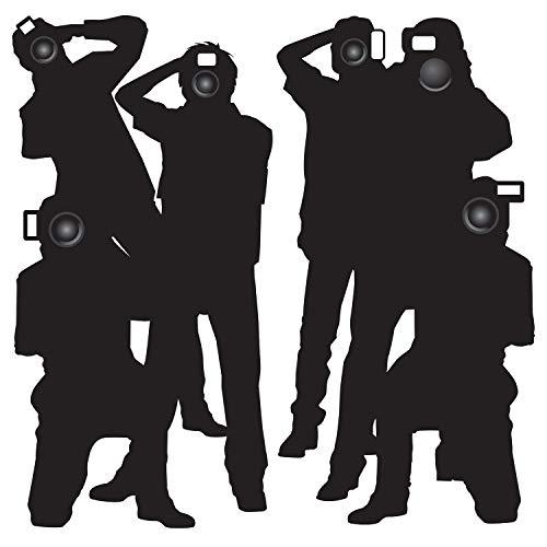 """Beistle- Paparazzi Props Party Accessory (1 Count) (2/Pkg) Accessoires, 52088, Noir, 5' 3"""""""
