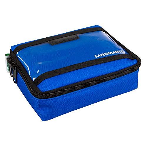 SANISMART Ampullarium S Nylon 19 x 14,5 x 6 cm für 50 Ampullen, Farben:Blau