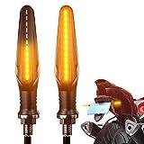 FEZZ Feux Clignotans Led Moto Indicateur Clignotant Universel Sequentiel Clignotants Moto Ampoule Custom Ambre, Pack of 2pcs