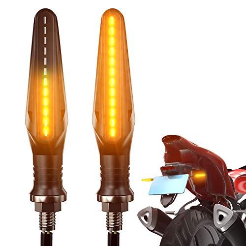 FEZZ Frecce Led Moto Universali Indicatori Di Direzione Moto LED frecce Moto Custom LED Ambra, Pack of 2