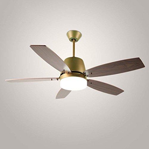 DSJ Kroonluchter Nordic plafondventilator, ventilator, kroonluchter, continental modern, eenvoudige mode restaurant verlichting, afstandsbediening, imitatie hout verlichting