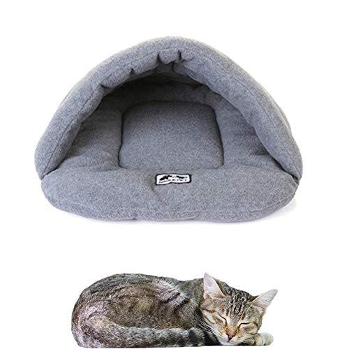 Hond Cave Bed Huisdier Bed Kat Slaapzak Dierenarts Bed Voor Honden Warm Hond Bed Goedkope Hond Bedden Indoor Huisdier Huis Pluche Hond Bed gray,xs