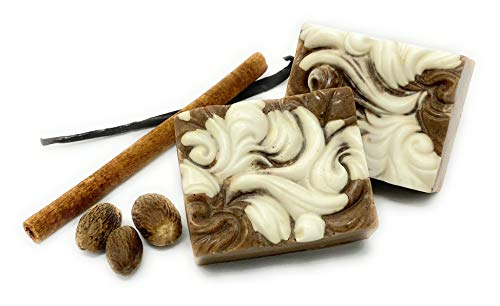 LIMITED EDITION: MI-AUTUMN SPICE All-Natural Handmade Soap – 2 Bar Gift Set for Men and Women 4 oz each. Organic Pumpkin Pie Spice and Vanilla Bean. Suitable for all skin types