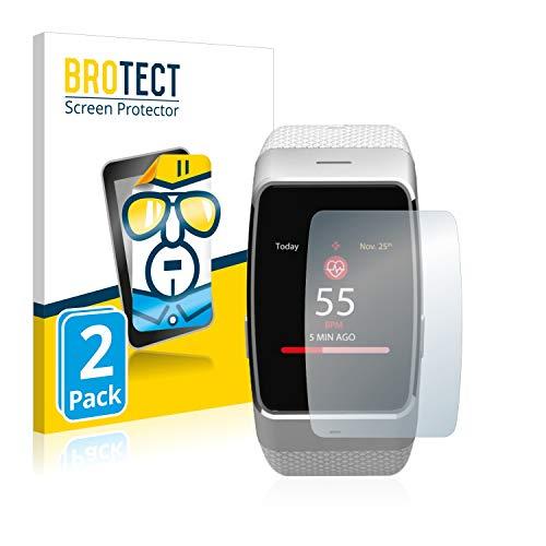 BROTECT Schutzfolie kompatibel mit MyKronoz ZeWatch 4 (2 Stück) klare Bildschirmschutz-Folie