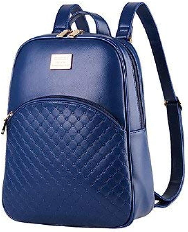 Lounayy Exquisite Handtaschen Rucksack Schalen Stylisch Pu Studenten Studenten Studenten Mode Wandern Leder Tasche (Farbe   Aquamarine, Größe   One Größe) B07PFC6W4Q  Direktgeschäft 823659