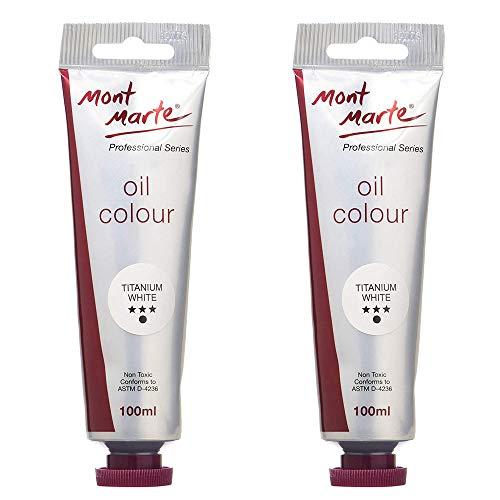 Mont Marte Oil Paint 100mls - Titanium White-2 Pack