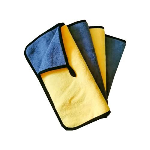 Panno in Microfibra, Panno Asciugatura Auto Qualità Premium, Panno per Lucidatura per la Cura Ddell Auto, Panno Pulizia Auto, Lucidare, Pulire, Rifinire e Antipolvere, 60x30cm, Set da 4 pz
