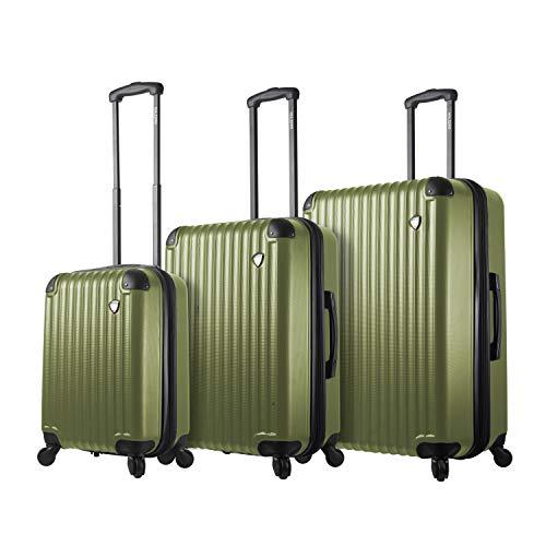Mia Toro Italy Rotolo Hardside Spinner Luggage 3pc Set,Gold, One Size