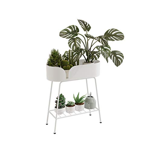 Planter Box Flower Stand, Raised Planter Box Standing Rack, Two Tiers Can Be Placed Outdoor Elevated Garden Flower Bed Pots, For Vegetables Flower HerbPatio Or Indoor Storage Shelf Bookshelf, Size: 71