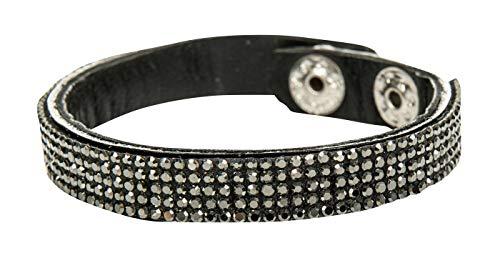 HKM Luzia 4057052010507 Bracelet pour Adulte Noir/Anthracite Taille M