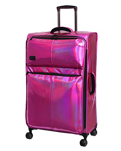 it Girl 30.9' Spellbound 8 Wheel Holographic Lightweight Expandable Spinner, Hot Pink, One Size