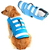 High Visibility Dog Life Jacket Safety Vests for Swimming, Superior Buoyancy & Rescue Handle (XXL (Chest Girth: 29.1'-38.6'), Coral Blue)