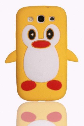 THS5Star Samsung Galaxy S3 i9300 Stijlvol pinguïndesign (Cartoon), zachte siliconen hoes silicone beschermhoes, pinguin case, accessoires in premium kwaliteit - kleur geel - Studio Lars-Peter Nieuw