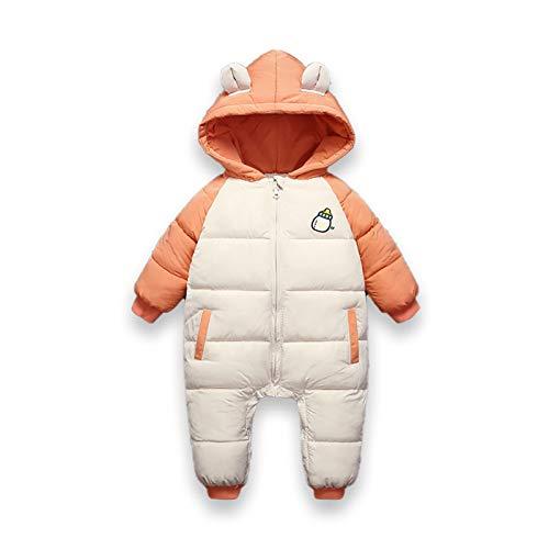 New Born Infantil Otoño Invierno Overms Chaqueta Niños con Capucha Manto Manto Baby Coat Girl Boy Parkas Romper Snowsuit Ropa (Color : Orange, Size : 6M)