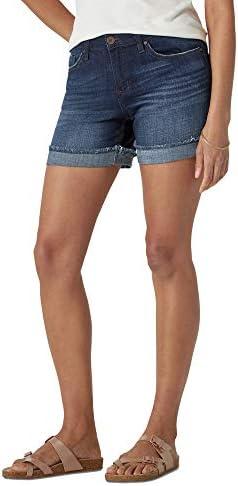 Riders by Lee Indigo Women s Modern Collection Denim Ex Boyfriend 5 Rolled Cuff Short Dark wash product image