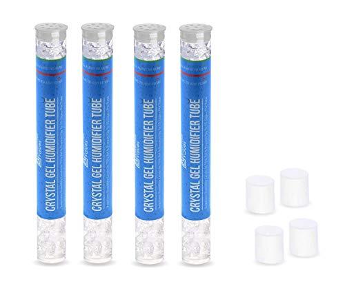 Pack de 4 tubos humidificadores – Mantiene la humedad al 70% con gel infusado PG, el mejor valor – cada tubo protege hasta 25 puros por valores esenciales