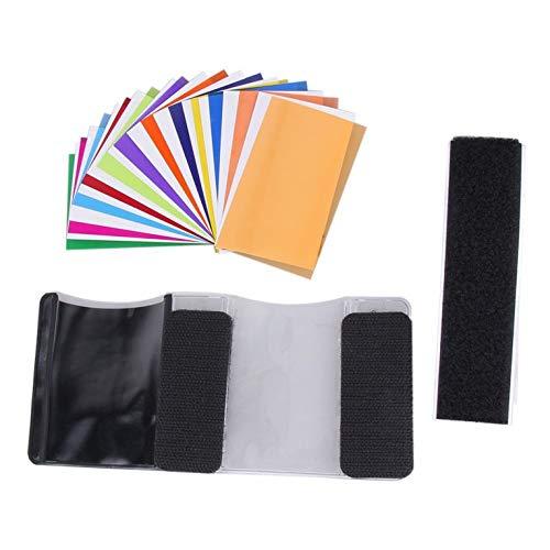 Eletam Tarjeta de Color de 12 Piezas para Strobist Flash Gel Filter Color Balance Difusor Iluminación para/para