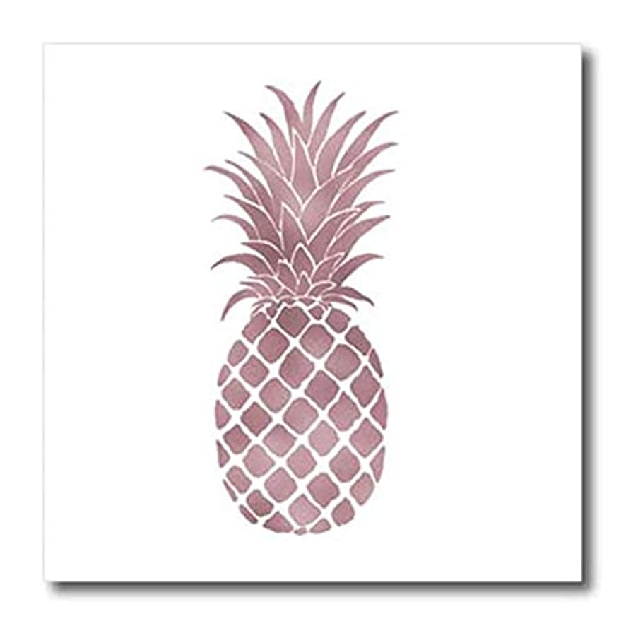 3dRose ht_271076_1 Picturing Rose Gold Pineapple Iron On Heat Transfer, 8