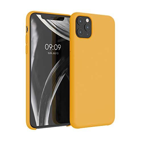 kwmobile Custodia Compatibile con Apple iPhone 11 PRO Max - Cover in Silicone TPU - Back Case per Smartphone - Protezione Gommata Giallo Zafferano