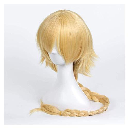 JPSOUP Anime Cosplay Pelucas McOSer Fataapocrypha Fate/Go Jeanne d'Arc Wig Trenzado Cosplay Pelucas de Fiesta + Peluca Gorra