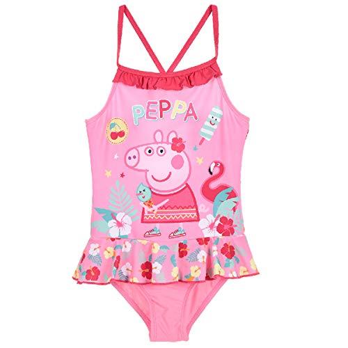 Peppa Wutz - Peppa Pig Badeanzug Bademode (Rosa, 104)