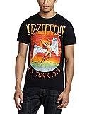 Led Zeppelin Ledzeppelin_USA Tour '75_Men_bl_TS:1XL Camiseta, Negro (Black Black), X-Large para Hombre