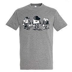 Camiseta Computer Mafia - Humor - Color Gris Mezcla