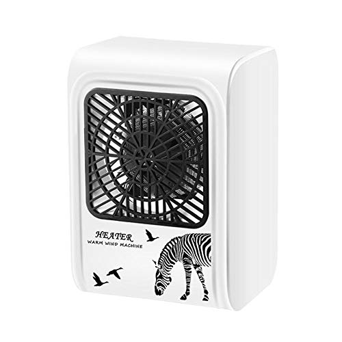 Heater Portable Fan, 3s Speed Heating,Small Desktop, over Heat Protection,silent Operation,500W Low-power Electric