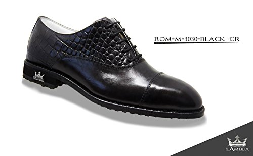 LAMBDA GOLF MAN SHOES MOD. ROMA COL. BLACK SIZE (43)