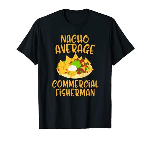 Cinco De Mayo Nacho Pescador Comercial Medio Mexicano Camiseta