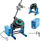 Mophorn 50KG Rotary Welding Positioner Turntable Table 110V 80W Angle 0 to 90º Welding Positioner Positioning Turntable 310mm Diameter Welder Positioner Turntable Machine 200mm Lathe Chuck