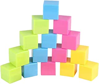 Large Geosolids Plastic Shapes,16 colored cubes 3 cm,Three dimensional geometry recognition graphics teaching aid 3D Shape...