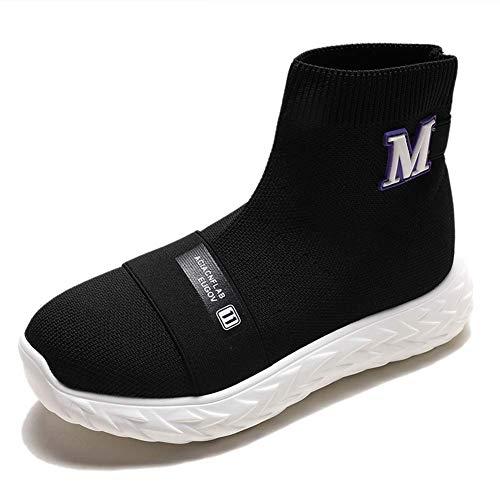 Dames Wandelschoenen Loopschoenen Sokken Platform Mode Mesh Sneakers Luchtkussen Atletische Gym Casual Loafers Dans Hip-Hop Schoenen 40 Zwart