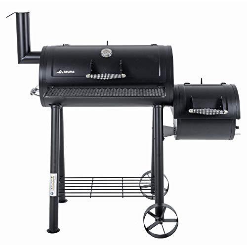Azuma Bandit Barrel BBQ Charcoal Grill Wood Smoker Firebox Black Steel Portable Barbecue