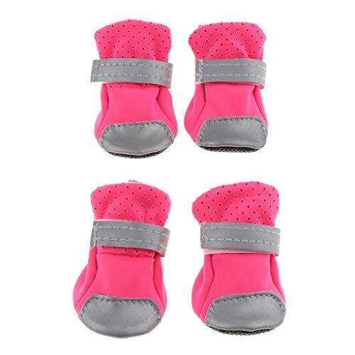 LOVIVER Dog Puppy Shoes Pet Ademende Stof Comfortabele Laarzen Booties Sneakers - Roze L