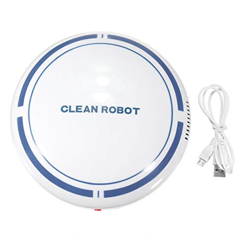Tsubaya Rechargeable Smart Sweeping Robot Aspirateur pour Pet Hair Clean Auto Aspiration Sweeper Ménage Aspirateur - Blanc