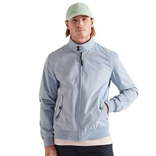 Superdry Men's Iconic Harrington Jackets, China Blue, XS