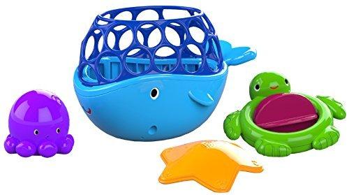 Bright Starts, Oball Tubby Scoop Friends Badespielzeug bestehend aus 4 leicht zu greifenden Spielzeugen