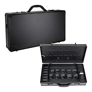 Ver Beauty Professional Barber Case Stylist Tool Box Organizer & Traveling Case Black Matte Large