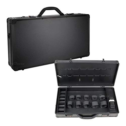 Ver Beauty Professional Barber Case, Stylist Tool Box Organizer & Traveling Case, Black Matte, Large